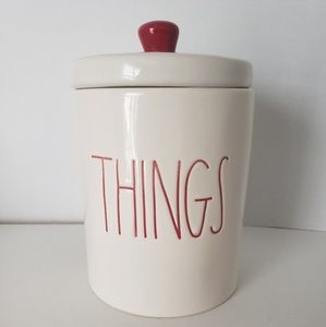 NEW Rae Dunn THINGS Lidded Container